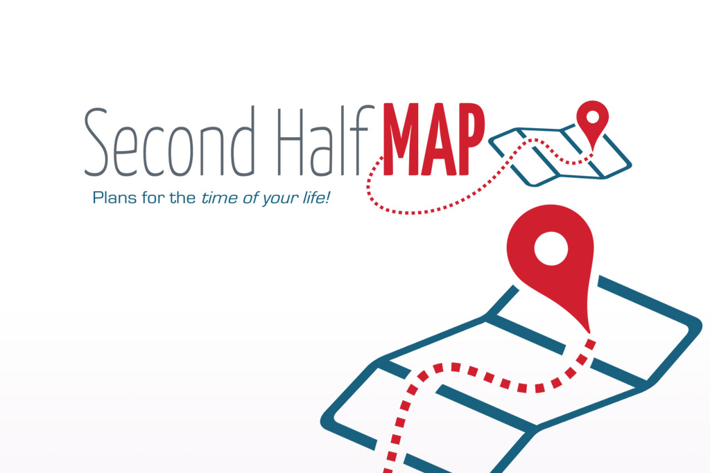 Second Half Map Logo Design