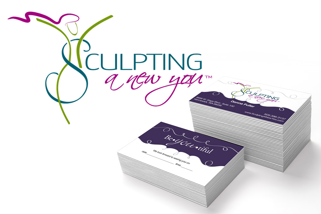 Sculpting A New You Logo and Business Card Designs