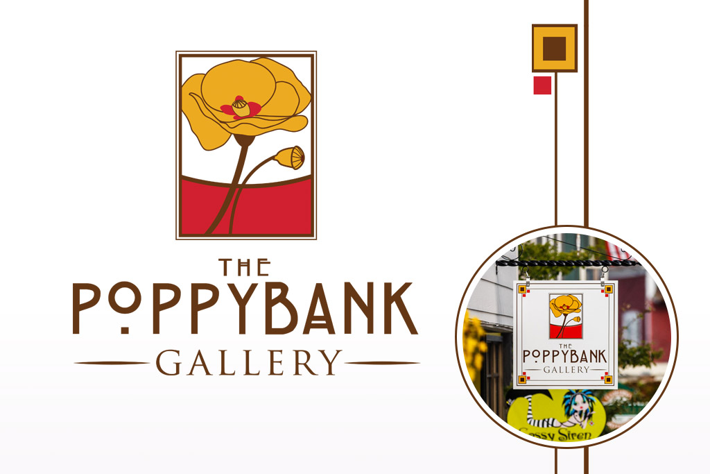 Poppybank Gallery Logo and Sign Designs