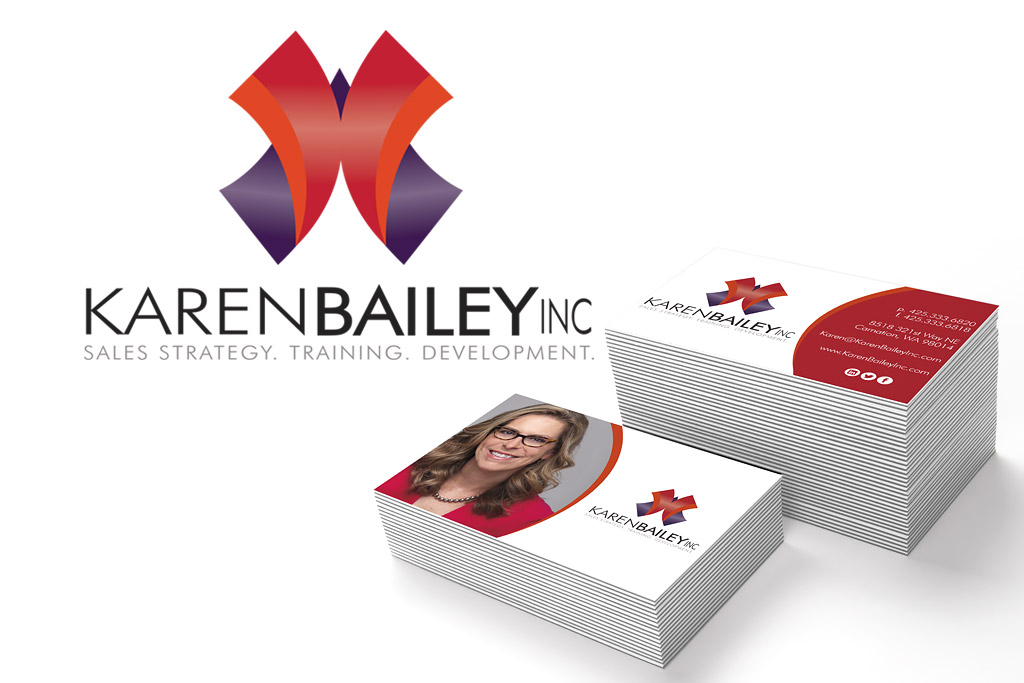 Karen Bailey Inc. Logo and Business Card Design
