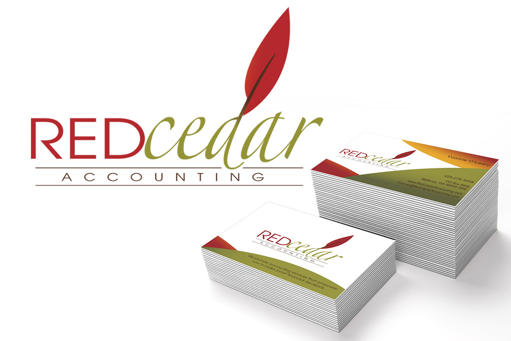 Red Cedar Accounting Logo and Business Card Designs