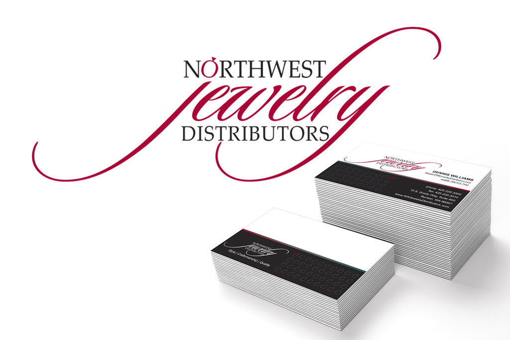 Northwest Jewelry Distributors Logo and Business Card Designs