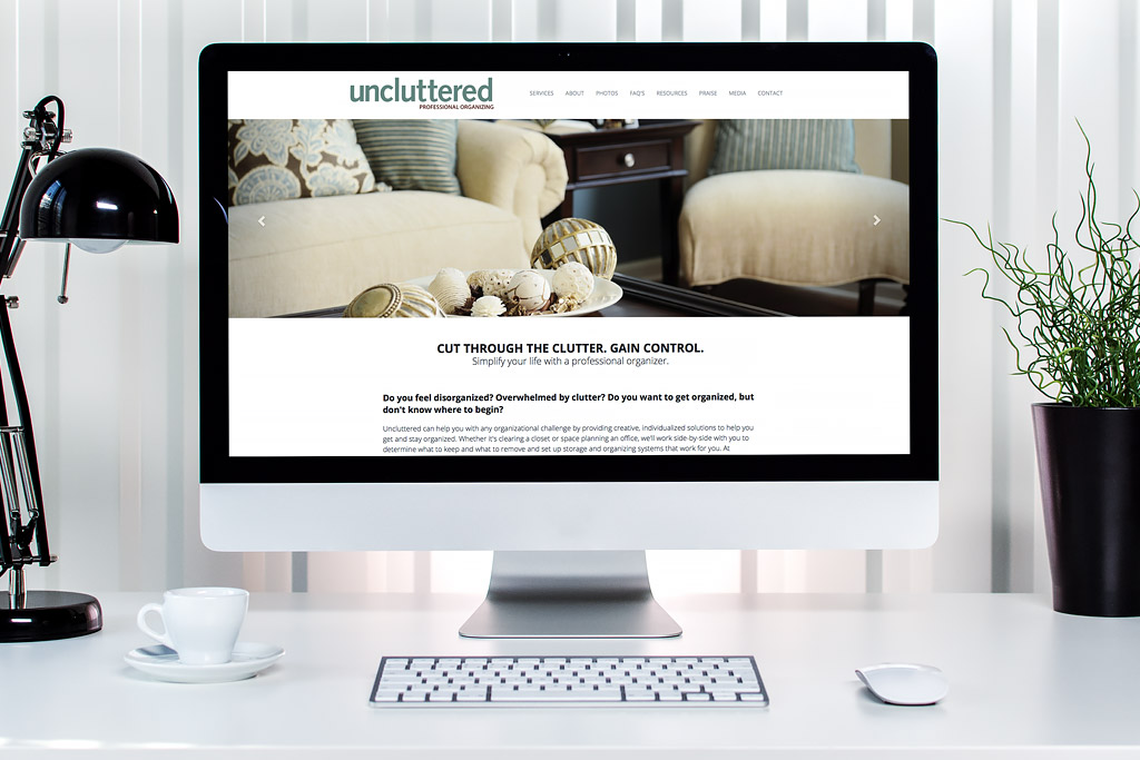 Uncluttered Professional Organizing Website Design