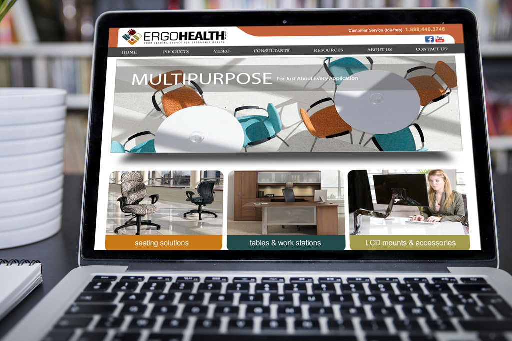 Ergo Health Website Design