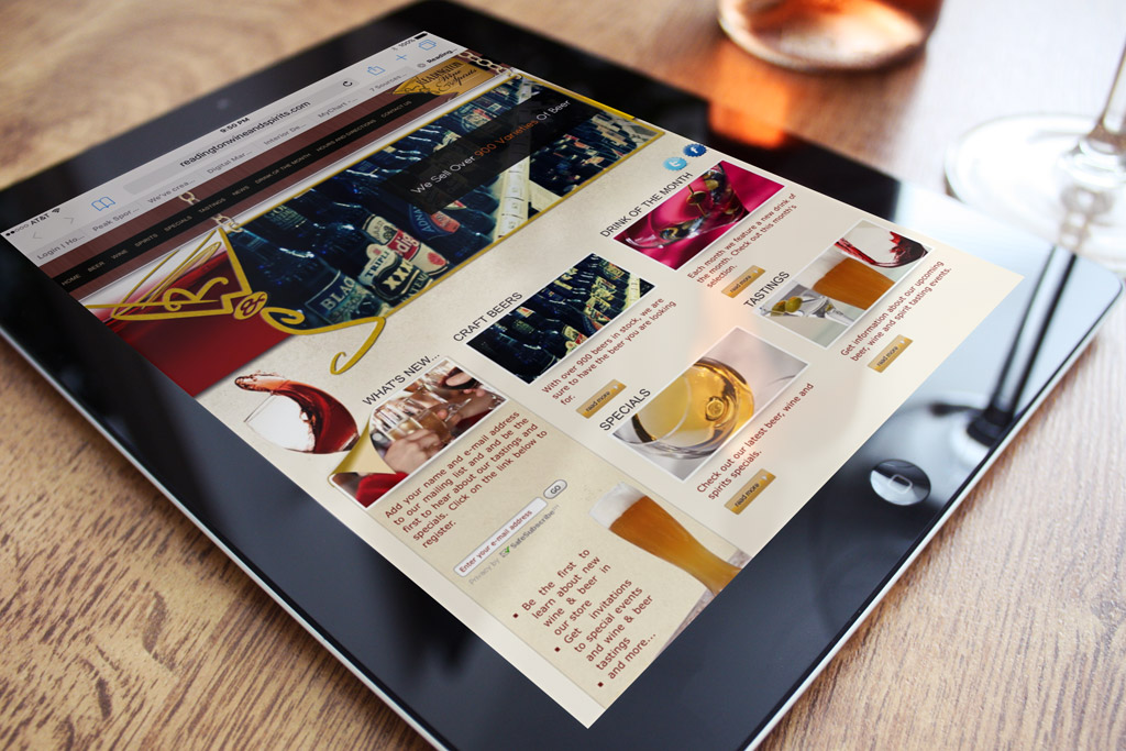 Readington Wine and Spirits Website Design
