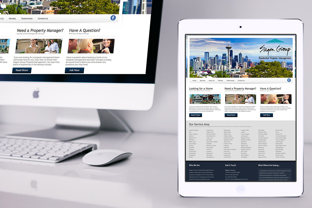 Sagen Group Property Management Website Design