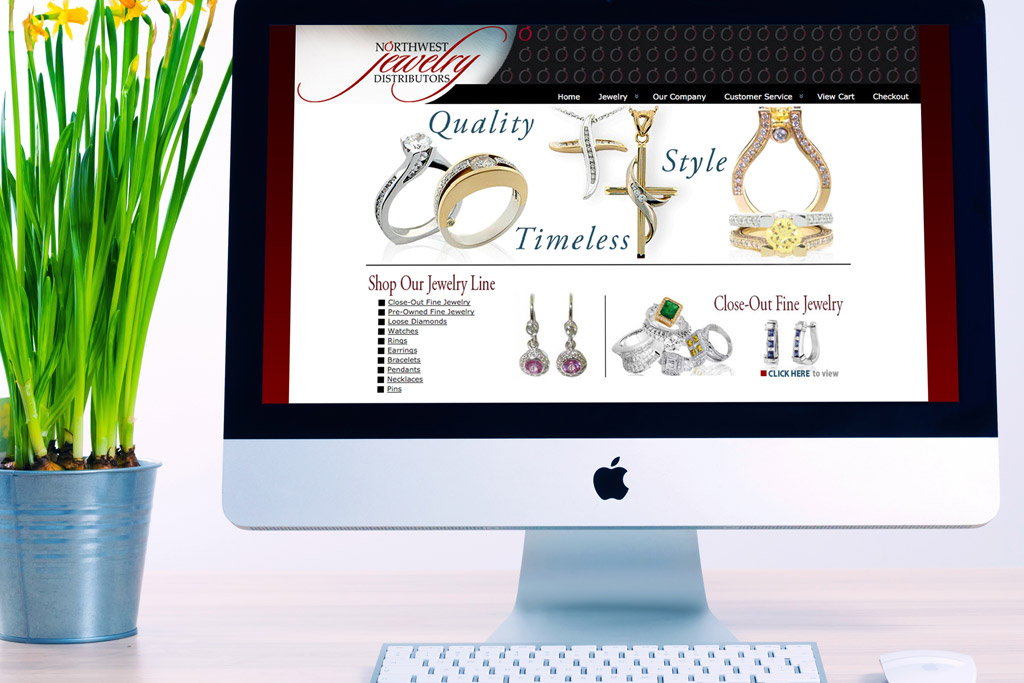Northwest Jewelry Distributors Website Design